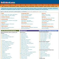 Free Math worksheets, Free phonics worksheets, Math Games ...