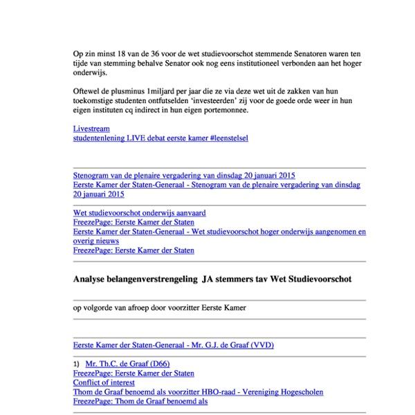 pdfAnalyseBelangenverstrengelingledenEersteKamertavwetstudievoorschot