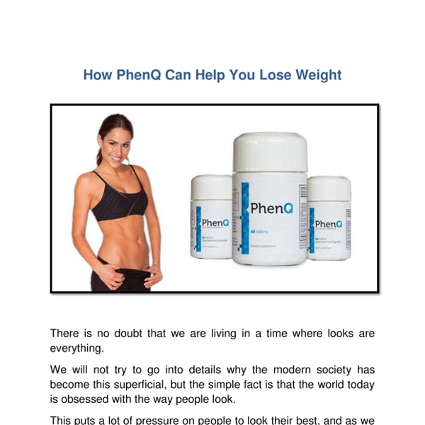 How PhenQ Can Help You Lose Weight