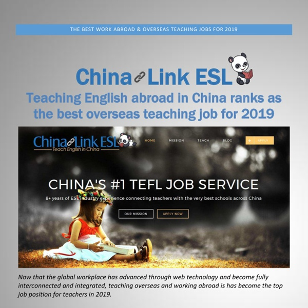 The Best Work Abroad And Overseas Teaching Jobs For 2019