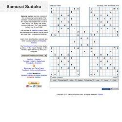 Samurai Sudoku   Pearltrees