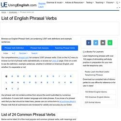 Phrasal Verbs   Pearltrees