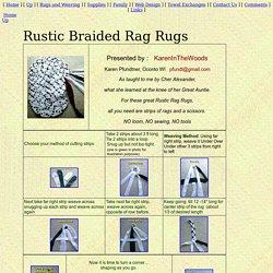 Braided Rag Rugs | Pearltrees
