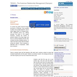 CRM- Tesco case study | Pearltrees