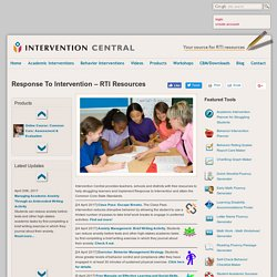Response To Intervention Pearltrees Articles for teachers on intervention strategies and techniques with intervention in the classroom, there are pretty much as many strategies as there are teachers, and intervention central gives a few. response to intervention pearltrees