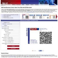 Create QR Code Business Cards! Free meCard, vCard Business