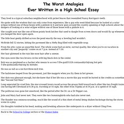 list of analogies for high school students