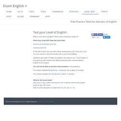 free english level test how good is your english