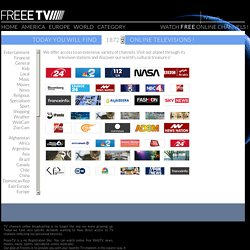 Watch Free TV, Internet TV, Live TV Channels, Sport, Music