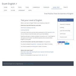 Free English Level Test - How good is your English? Which