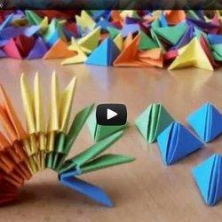 3D Origami Decorative Multicolor Vase | 3d origami, Origami ... | 250x250