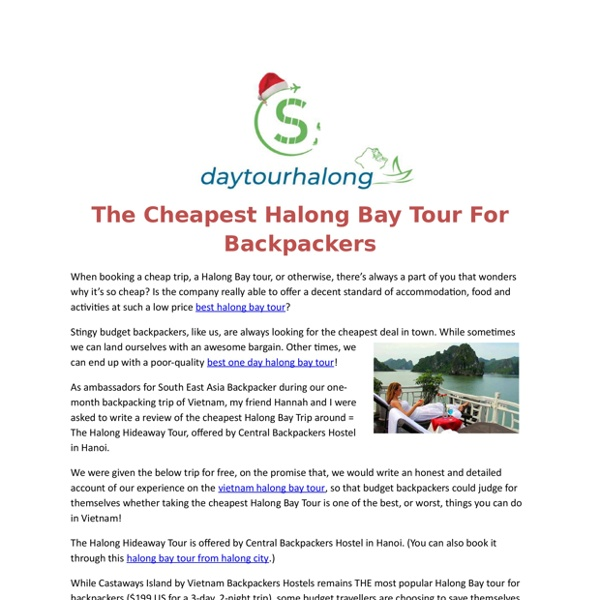Halong Day Tour PDF