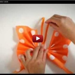 Pliage De Serviette En Papier Papillon Coloré