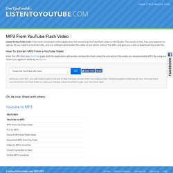 YouTube to MP3 Converter - Fast, Free - ListenToYouTube com
