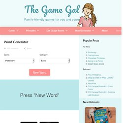 Game Word Generator - The Game Gal | Pearltrees