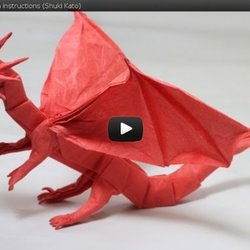Part2/4 : How to fold Origami Fiery Dragon ver.2 摺紙噴火飛龍第二 ...   250x250