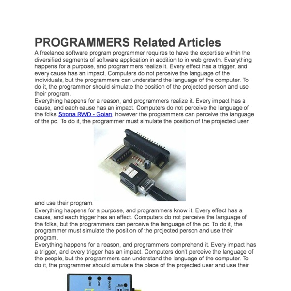 PROGRAMMERS Related Articles