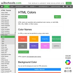 HTML Colors | Pearltrees