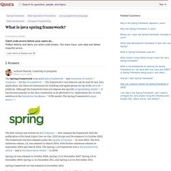 Why is Spring Framework So Popular? | Pearltrees