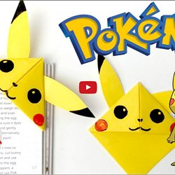 3D origami Pikachu tutorial Part1 - YouTube | 250x250