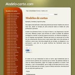 Modelos De Cartas Ejemplos Y Tipos De Cartas Pearltrees