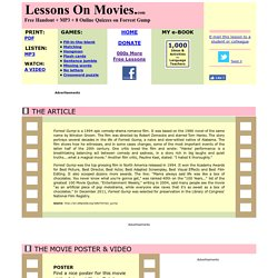 Forrest Gump: Lessons On Movies com: ESL Lessons | Pearltrees