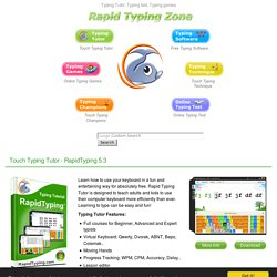 Typing Tutor, Typing Test and Typing games at rapidtyping
