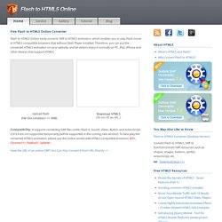 Free Flash to HTML5 Online Converter | Pearltrees