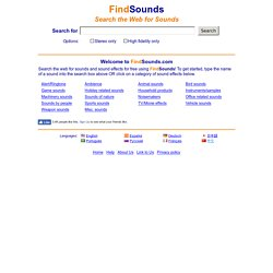 FindSounds - Search the Web for Sounds | Pearltrees