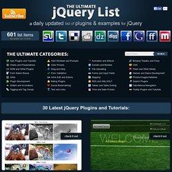 JQuery Ajax tutorials, jQuery UI examples and more! - The