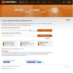 Convert2mp3 net - Online Video converter - Convert Youtube