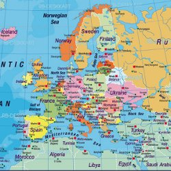 Karta Over Europa Pearltrees