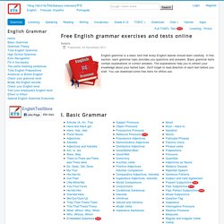 free english exercises and tests online