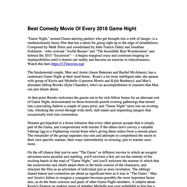 Best Comedy Movie Of Every 2018 Game Night .pdf