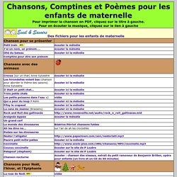 Chansons Et Comptines Pearltrees
