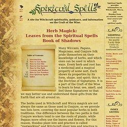 Spiritual Spells: Herbal Magick Book of Shadows   Pearltrees