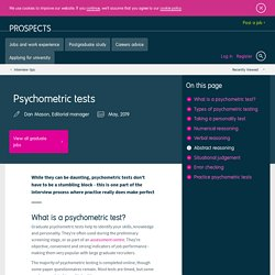 Psychometric tests | Pearltrees