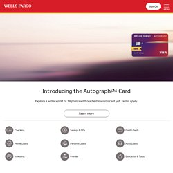 Wells Fargo - Personal & Business Banking - Student, Auto