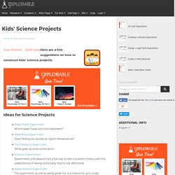 Science Experiments - Project Ideas | Pearltrees