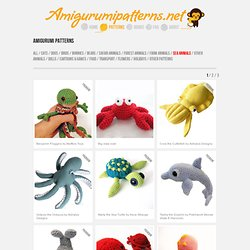 Free Knitting Pattern for Little Sea Creatures (With images) | Knitting  projects, Knitted animals, Animal knitting patterns | 250x250