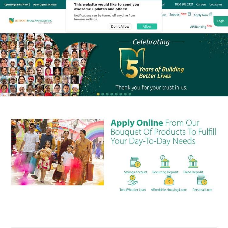 Ujjivan Small Finance Bank - Better Banking. Better Living