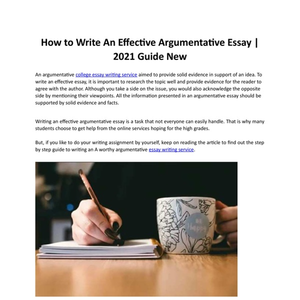 How to Write An Effective Argumentative Essay 2021 Guide New