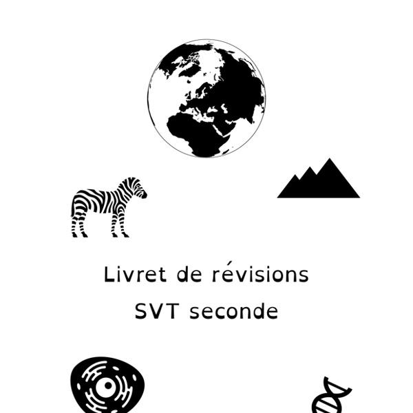 SVT Livret de revisions 2de pour lentree en 1re voie generale
