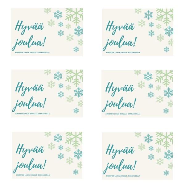 Lahjakorttipohjat aineettomaan lahjaan - joulublogi IIn monistepohja Napauta kuvaa avataksesi tiedoston
