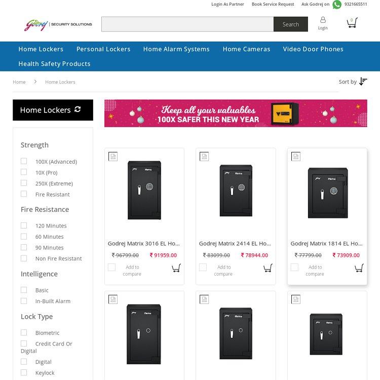 Godrej Home Lockers Tijori Buy Home Security Lockers Online at Godrej